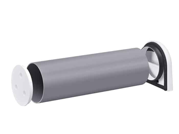 Rohbauset bestehend aus Montagerohr, Außenblende und Putzdeckeln