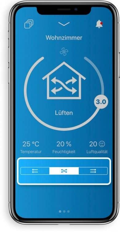 App für Lüftung im Smart Home