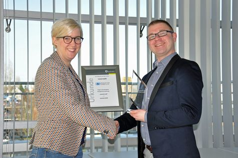 Mike Buchsdrücker bei der Verleihung Produkt des Jahres