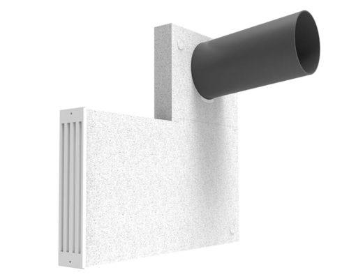 Laibungselement für die Fenster- oder Türlaibung - dezentrale Wohnraumlüftung